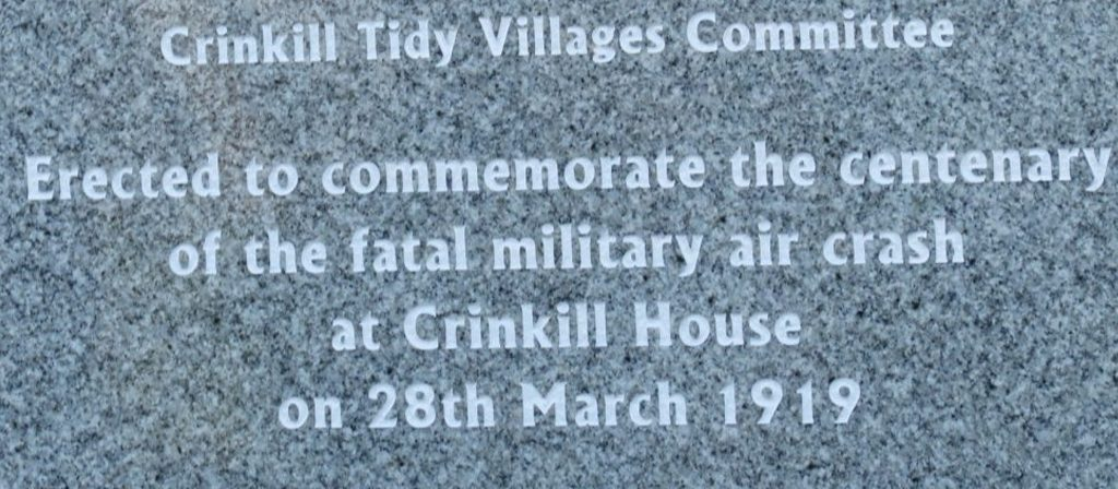 Centenary of Military Air Crash