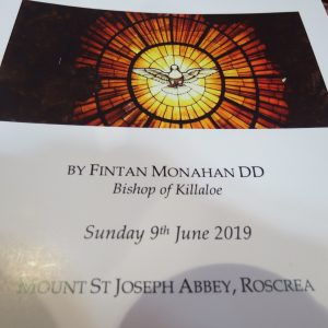 Ordination of Dom Malachy Thompson – Mt. St. Joseph Abbey, Roscrea 9th June 2019