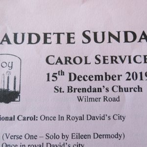 Gaudete Carol Service, St. Brendan's Church 15th December 2019