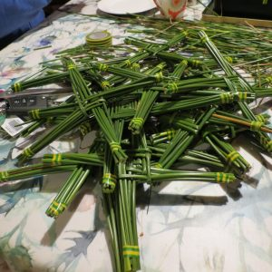 Making St. Brigid's Crosses