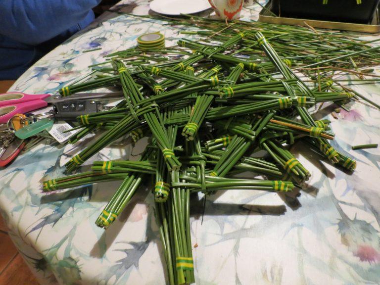 Making St. Brigid's Crosses