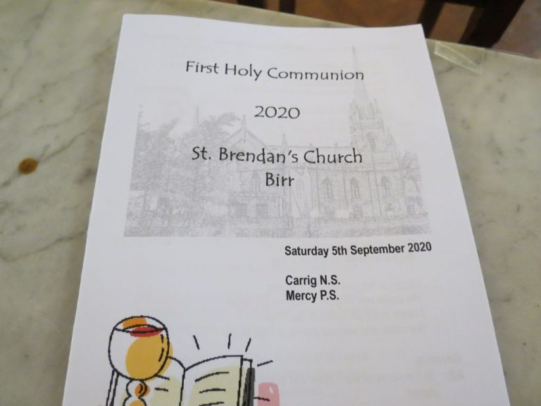 First Communion 2020 - Carrig N.S. & Mercy P.S. - September 5th