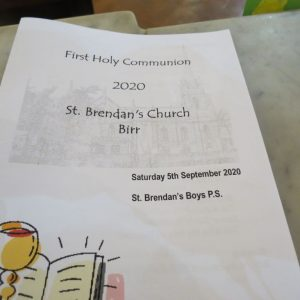 First Communion 2020 – St. Brendan's Boys P.S. – September 5th