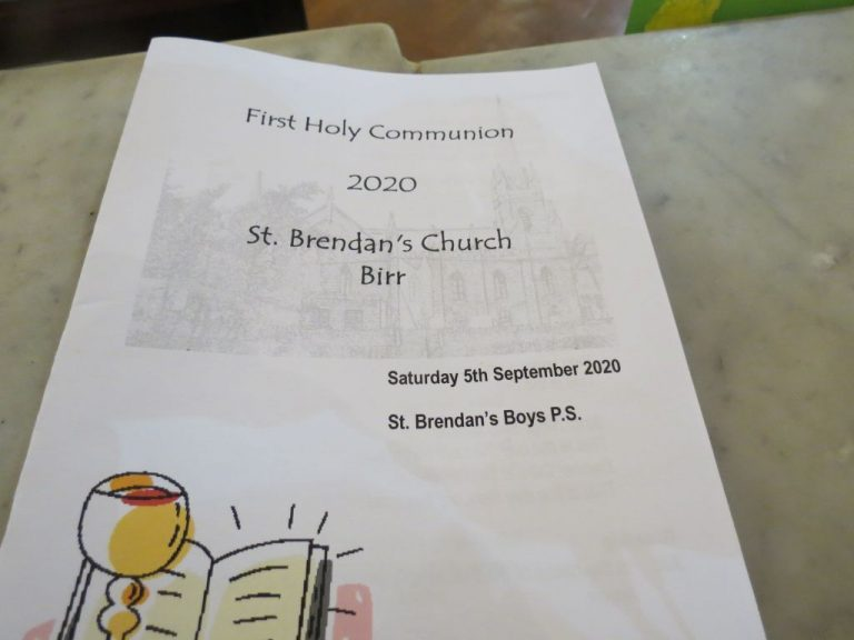 First Communion 2020 - St. Brendan's Boys P.S. - September 5th