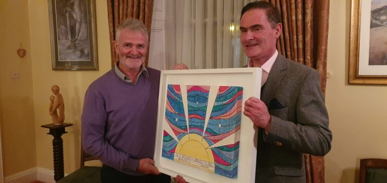 Presentation of Commissioned Painting to Fr. Pat Gilbert